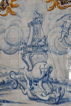 Convent of Jesus - Setúbal hand painted #Azulejos panel #Portugal