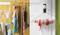 Creative storage solutions for wrapping paper supplies
