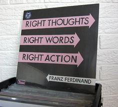 """#FRANZFERDINAND """"Right Thoughts Right Words Right Action"""" vinyl record at wild honey records #recordstore #vinylrecords"""
