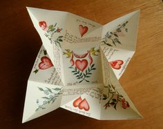 Pen and Ink Victorian Puzzle Purse Valentines Day by steelbrush,