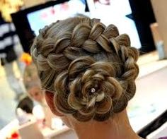Beautiful braided back bun