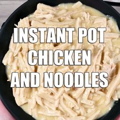 Instant Pot Chicken and Noodles is a comforting, delicious meal the whole family will enjoy. Using fresh or frozen chicken breasts and frozen egg noodles, pressure cooker chicken and noodles is ready Best Instant Pot Recipe, Instant Recipes, Instant Pot Dinner Recipes, Chicken Breast Instant Pot Recipes, Instant Pot Pressure Cooker, Pressure Cooker Recipes, Slow Cooker, Pressure Cooking, Chicken In Pressure Cooker