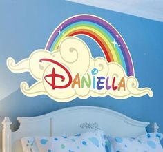 Personalize your childrens bedroom with a colorful sticker! Find your perfect on here! #tenstickers #tenvinilo #sticker #color #rainbow #name #personal #DIY #wall #art #decoration #kids #children #friends #home
