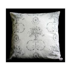 Biggie Best Grey Dainty Toile Cushion Ethereal, Lamps, Cushions, Craft Ideas, Throw Pillows, Grey, Crafts, Beautiful, Toile