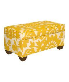 Sun Gold Gerber Storage Bench