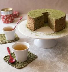Photo de la recette : Angel food cake au thé vert matcha – gâteau des anges Angel Cake, Angel Food Cake, Good Food, Awesome Food, Cake Recipes, Pudding, Baking, Sweet, Desserts