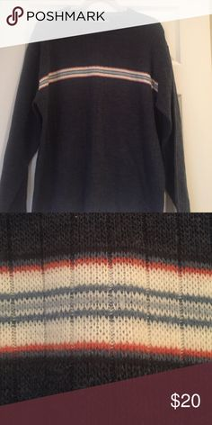 💞Men's Sweater Sale💞 Blue/Gray color with stripes across chest.  Comfortable and stylish!  A must have and great holiday gift!! 🎄 Sweaters Crewneck