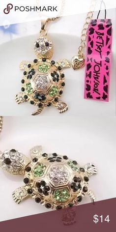 """🐢Adorable turtle necklace🐢 Long sweater turtle necklace. ). 28"""" with adj. links to 30"""" Betsey Johnson Jewelry Necklaces"""