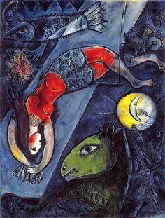 Chagall 青いサーカス(1950)