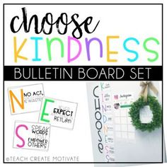 Choose Kindness Bulletin Board Teaching our students to CHOOSE kindness daily is a MUST! This resource is perfect to accompany your kindness talks, read alouds, and lessons. #kindnessforkids #kindnessmatters Kindness Bulletin Board, Bulletin Boards, Kindness For Kids, Kindness Matters, Classroom Community, Character Education, Classroom Design, S Word, Teacher Newsletter