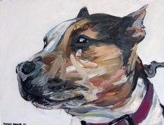 Artist: Patrick Bremer #dog #portrait #art  www.artsyshark.com