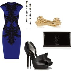 My dream out-on-the-town outfit!! Alexander McQueen's dress is to die for!
