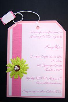 elegant baby shower tea party invitationthepaperwingcreation, invitation samples