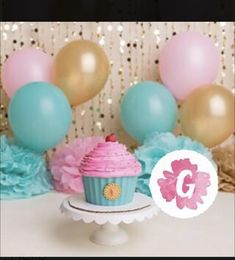 Baby Birth, Shabby Chic, Deco, Cake, Desserts, Pink, Gold Balloons, Color Combinations, Pallets