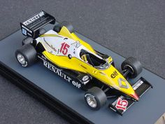 1983 Renault RE40 F1 Alan Prost Renault Formula 1, Alain Prost, Camping World, First Car, Formula One, Scale Models, Diecast, Trucks, Ground Effects
