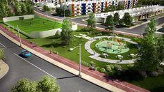 Juegos Infantiles con Canchas de Fut 7 en Arcos Paraíso Cancun