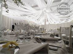 Elegante y sofisticado montaje de Telas para 300 invitados.  #LoveMemories #Weddings #CreandoMomentosMemorables