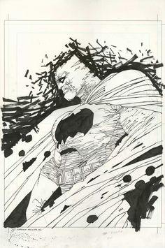 Dark Knight Batman Illustration (Frank Miller) Miller's tribute to his magnum opus Large Comic Art I Am Batman, Batman Art, Superman, Gotham Batman, Batman Robin, Frank Miller Art, Frank Miller Comics, Detective, Magnum Opus