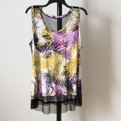 SALE NWT Tank top with mesh sItrfred Jennifer Lopez Tops Tank Tops