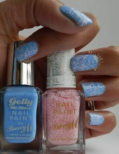 Barry M Confetti Nail Effects Marshmallow & Blueberry Gelly by Nailtart.com