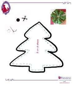 alberi+natale+feltro+pattern+christmastrees
