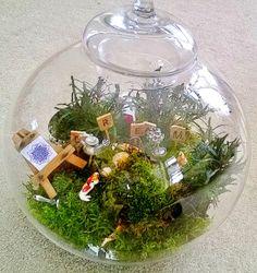 Interesting custom terrarium to represent the views of psychologist Carl Jung.