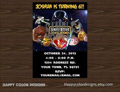 Angry Birds Star Wars Invitation - Angry Birds Star Wars Birthday Invitation - Angry Birds Party - Angry Birds StarWars