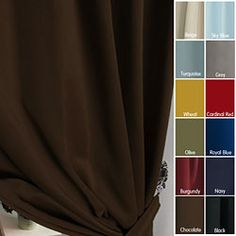 @Overstock - These solid insulated curtains are ideal for blacking out harmful sun rays that damage delicate furniture. The curtains are featured in a variety of beautiful colors to easily update your decor.http://www.overstock.com/Home-Garden/Solid-Insulated-Thermal-95-inch-Blackout-Curtains/3822089/product.html?CID=214117 $62.04