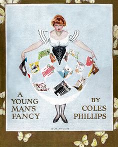"Coles Phillips - ""A Young Man's Fancy"" (1912) dustjacket"