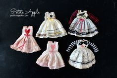 Tiny dolls outfits (Doll Chateau Sleepy) Vbs Crafts, Tiny Dolls, Doll Clothes, Craft Ideas, Apple, Sewing, Outfits, Outfits Fo, Baby Doll Clothes