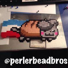 French Nyan Cat perler beads by perlerbeadbros