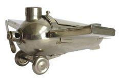 Henckels German Art Deco Airplane Smoker's Companion   Modernism