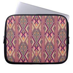 Vintage ethnic tribal aztec ornament computer sleeve