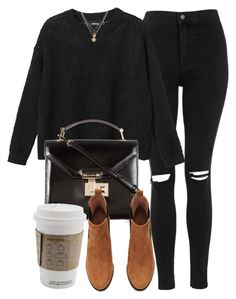 """""""Untitled #6928"""" by laurenmboot ❤ liked on Polyvore featuring Topshop, Monki, Rebecca Minkoff, H&M and LowLuv"""