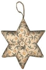 CD Designs - Freezer Paper Applique - English Paper Piecing Star Stuffy ornament/ pincushion