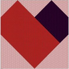Simple Heart Paper Pieced Pattern (click for free printable pattern)    A perfect starter for paper piecing.  (7 pieces)
