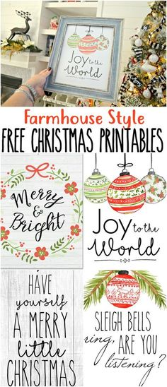 Farmhouse Decor Your Thing? Print These for FREE! Print and display our FREE farmhouse style printable decor this Christmas!Print and display our FREE farmhouse style printable decor this Christmas! Christmas Signs, Christmas Projects, Winter Christmas, Holiday Crafts, Holiday Fun, Christmas Holidays, Christmas Wreaths, Christmas Ideas, Christmas Movies