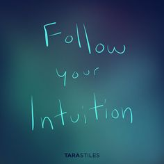 Sharespiration #3 – Follow your intuition