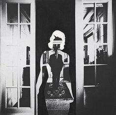 Magritte: Photo by Lothar Wolleh Wolleh visited the great surreal painter Magritte and his wife Georgette several times in 1966 and 1967. In the above photograph by Wolleh, Magritte has painted the shape of a woman around his portrait.