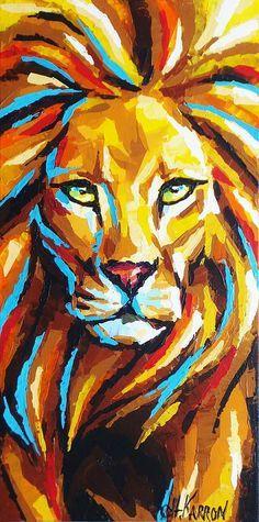 #Leão * #Lion ♡ #Arte #Ilustração Colorida.
