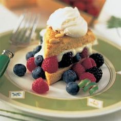 Cornmeal Cake With Blueberries And Maple Whipped Cream Recipe ...