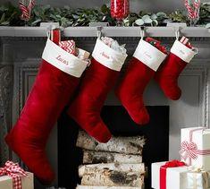 basic velvet stockings red with ivory cuff - Christmas Ideas Pinterest