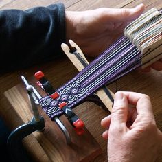 Simple and inexpensive Card Weaving Loom