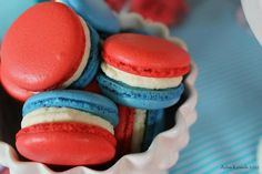 Patriotic Macarons #redwhiteblue #macarons