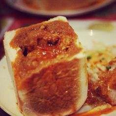Going to Durban? You have to try one of these - a 'Bunny Chow' Chow Chow, Africa Travel, Travel Guide, South Africa, Bunny, Heart, Places, Food, Preserve
