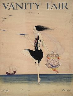 Rita Senger - Woman dancing On the Shore (1916)