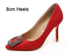 Bling Bling Sequined Cloth Square Rhinestones Buckle Women High Heels 6cm 8cm 10cm Three High Heels Fashion Women Party Shoes