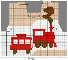 Chart for Chuff-Chuff Train intarsia Sweater/Jumper - free knitting pattern