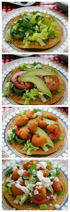How to make easy shrimp tostadas with chipotle cream #easyhomemeals
