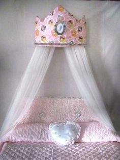 Tiara Crown Disney Princess Crib Canopy Crown by SoZoeyBoutique, $48.98